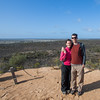 Wif and I at  O'sullivans lookout, O'sullivans lookout, Wyperfeld np