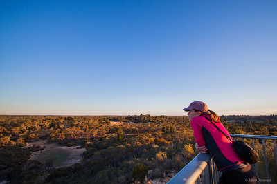Cath at  sunset near wonga camp, Wyperfeld np