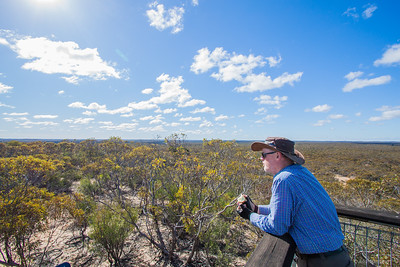 David trying to look cool at eastern lookout, Wyperfeld np