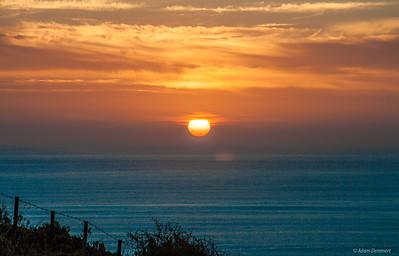 Sun set at Blacks near Bridgewater bay