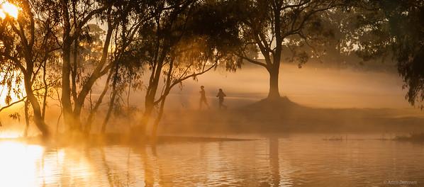 Early morning run at Lake Forbes
