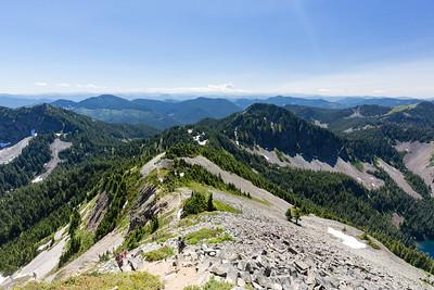 A few feet short of Silver Peak summit, looking South along the ridgeline.