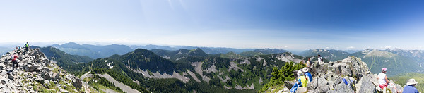 Roughtly 180 degree panorama, looking generally West from the top of Silver Peak.
