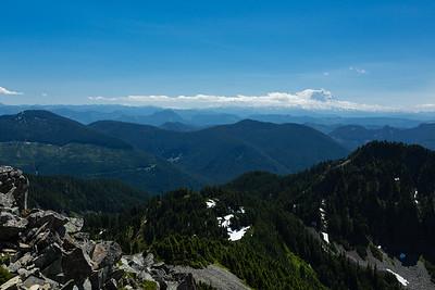 Mt. Rainier & Mt. Adams on the horizon.
