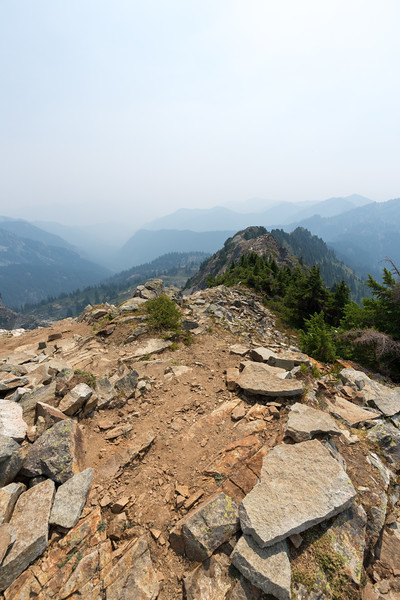 Some huffing, some puffing, and some mild smoke inhalation later: Alta Mountain summit