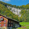2017_ waterfall and traditional house_ Austrian Alps_Oct_20170925_113053