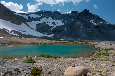 Amazing bright green/blue glacial lakes, fed by the edge of Fryingpan glacier