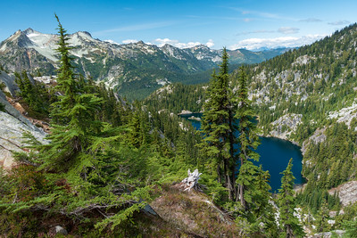 A couple hundred feet above Tuck Lake, with a good view of the big ridge to the west