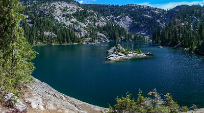 Basically hiked straight through without a stop until here, where I had my first view of Tuck Lake.
