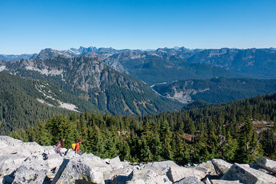 Snoqualmie Mountain, Red Mountain, and Kendall Mountain all viible here