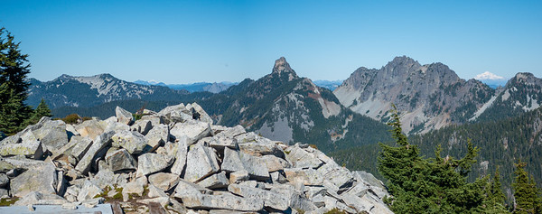 Another view of Baker and Glacier in the background with Kaleetan and Chair much closer to the foreground.