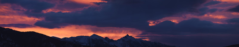 Gallatin Peak sunrise pano