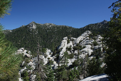 A little further up the trail and looking back at Fuller Ridge
