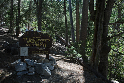 One of the more interesting wilderness entrance signs I've seen.  I wonder why this more obscure trail has one of the better signs?