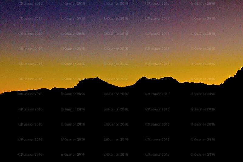 Sunset Sun Runs<br /> The sun runs away...