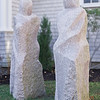 Two Sisters Statue in South West Harbor, ME