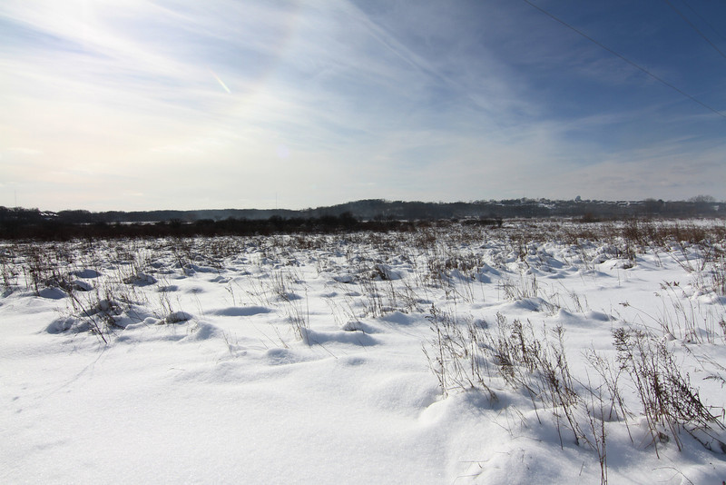 If this looks like a scene of a snow swept prairie in the middle of winter - that's because it is!