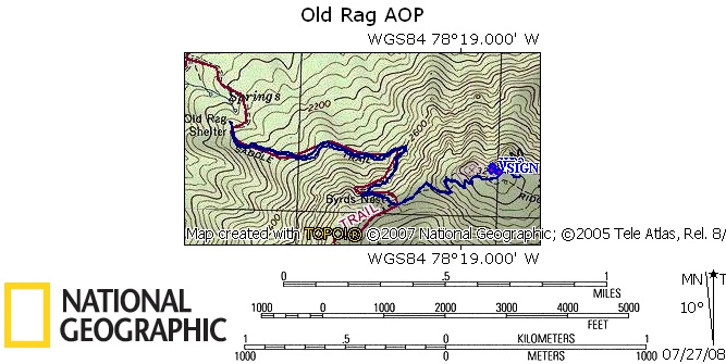 Map trace of our walk