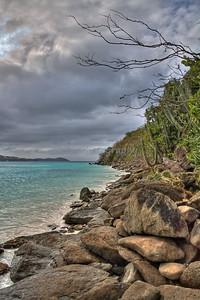Caribbean Landscape - Megans Bay, St.Thomas, U.S. Virgin Islands - HDR Image