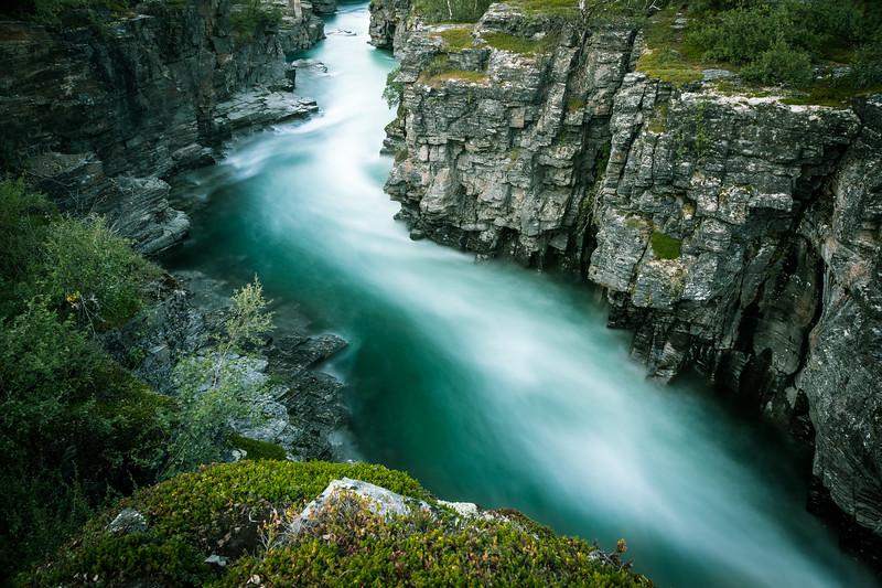 Abiskojåkka (Abeskoeatnu) kanjon, Abisko naturreservat, Sweden