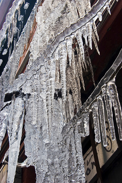Icicles and power lines