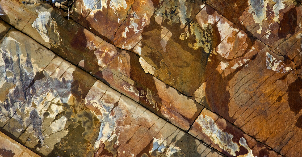 Rock face in Kananaskis Country - Alberta