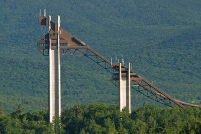 Ski jumps in Lake Placid