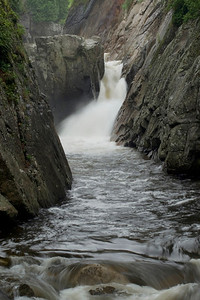 "The ""Flume"" waterfall near Lake Placid, NY"