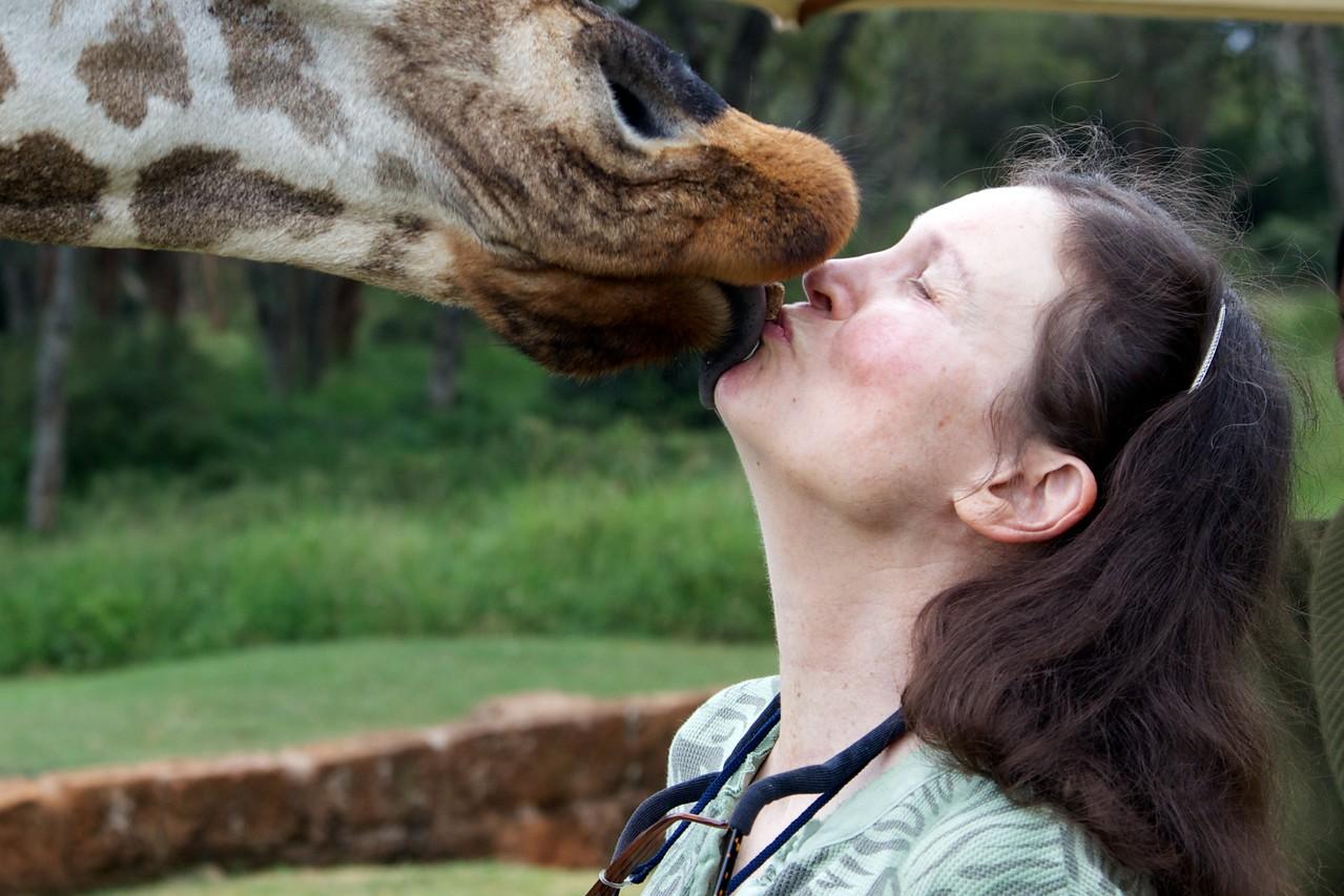 Kris at Giraffe Manor, Nairobi