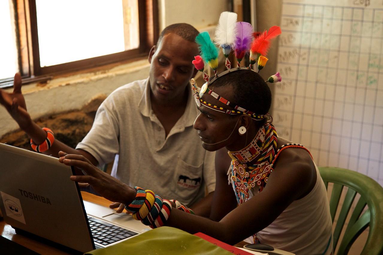 Workers at Save the Elepehants Research facility, Samburu, Kenya