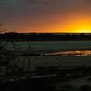 Colorful sunrise at Kruger