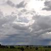Rains come to Angola, Africa.