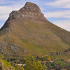 Lion's Head mountain, situated between Table Mountain and Signal Hill, Cape Town,  Lion's Head is 669 metres or 2195 feet high.