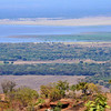 Lake Manyara as seen from the mountain road to Mbulu, Tanzania