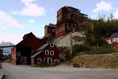 Mill building in Kennecott, Alaska.