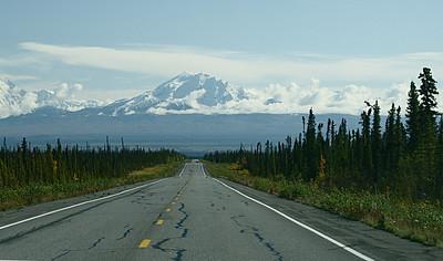 Looking east toward Wrangell-St. Elias National Park.