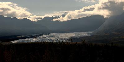 Matanuska glacier visible on the drive from Anchorage.
