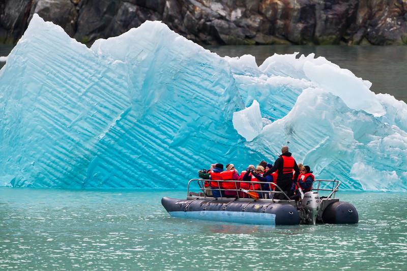 North Sawyer Glacier Iceberg<br /> A close Inspection of a Blue Iceberg, Tracy Arm Fjord, Alaska