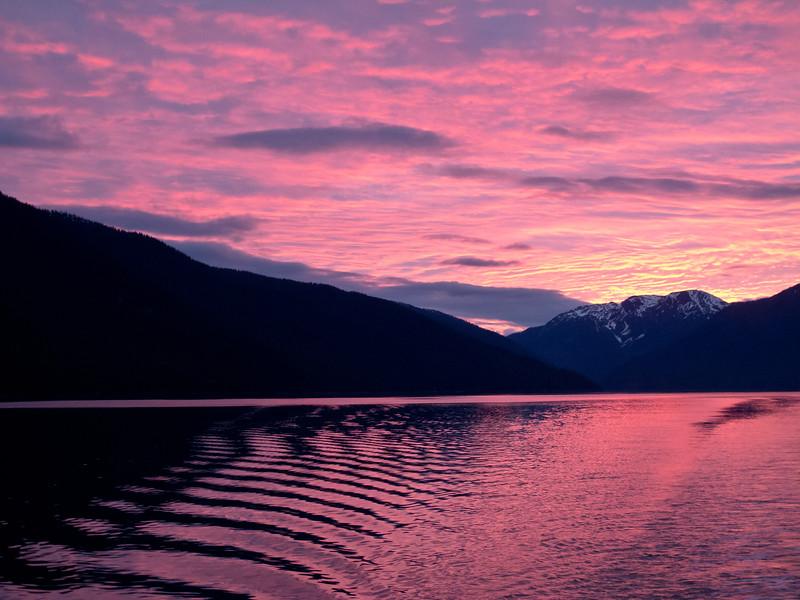 Sunset<br /> alaska Wilderness Cruise