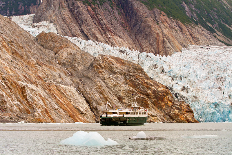 Cruise Ship<br /> North Sawyer Glacier, Tracy Arm Fjord