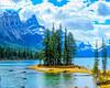 Spirit Island<br /> Spirit Island Maligne Lake Jasper National Park