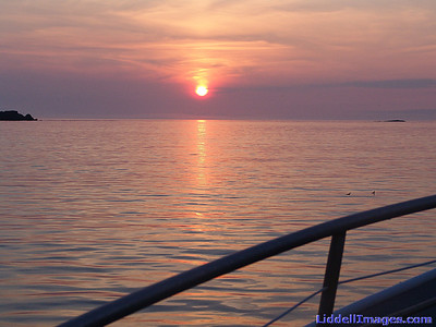 Sun setting around midnight..