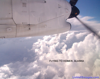 Flying from Anchorage to Homer..