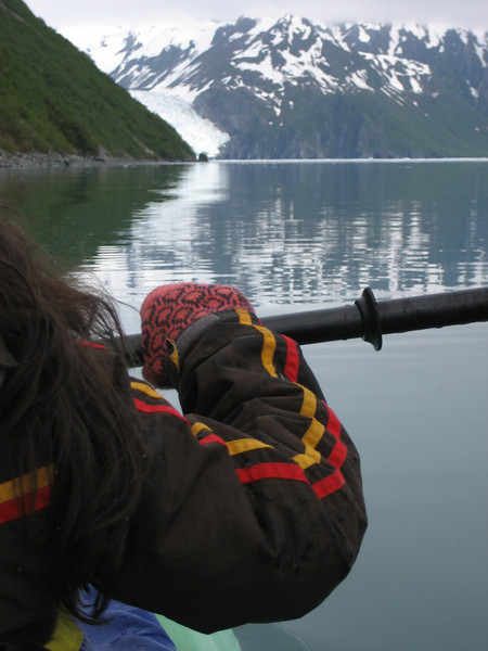 Paddling to Aialik Glacier