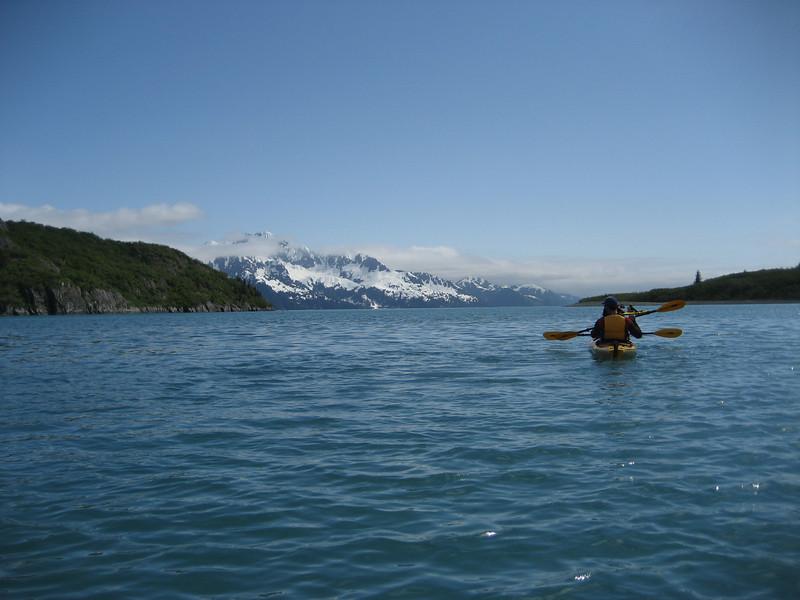 Paddling in Kenai Fjords NP, Alaska