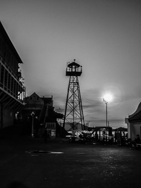 Alcatraz from the courtyard.