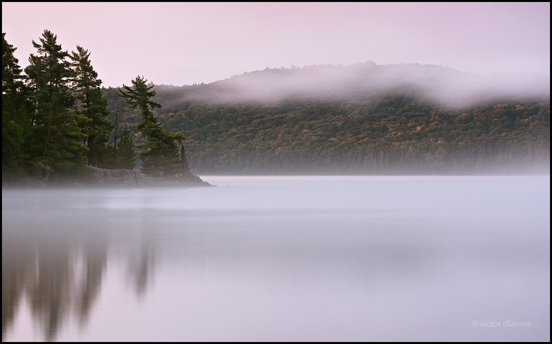 <h3>Lake of Two Rivers. Algonquin Ont.</h3> <h5>Canon40D, Canon 70-200 at 70mm, Lee 0.6 & 0.3 hard grad, Sing Ray LB polarizer,<br> 30s at f/14</h5>
