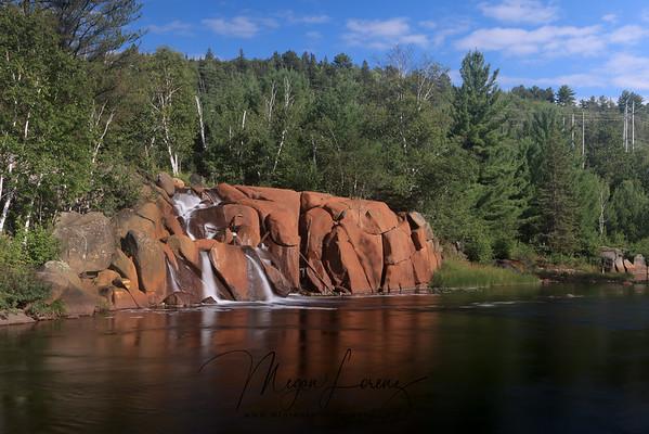 Waterfall in Levack, Ontario.
