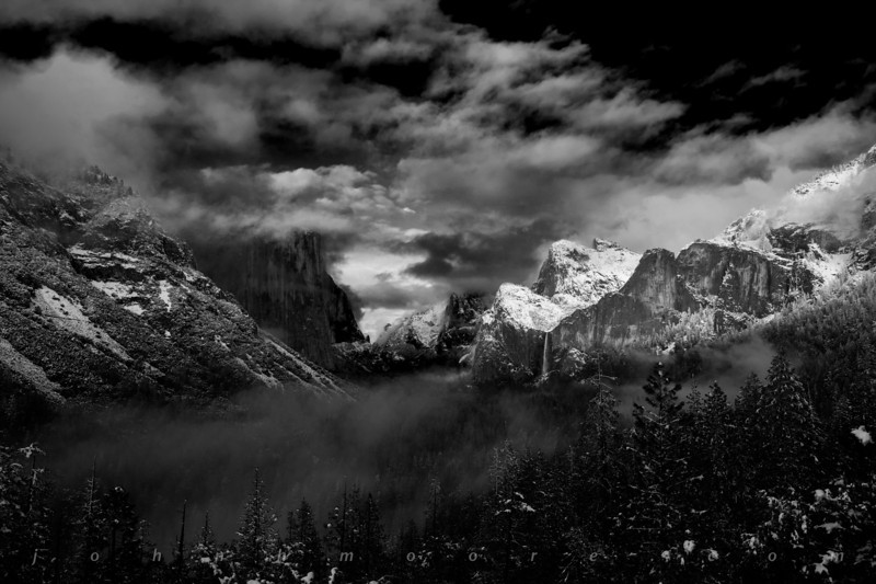Yosemite Valley from Tunnel View -- with a clearing storm
