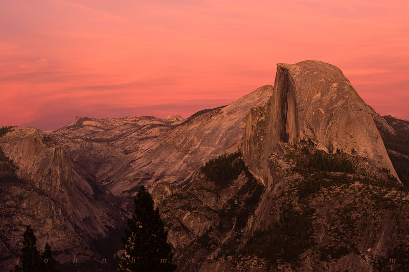 Half Dome, in Yosemite National Park, at sunset